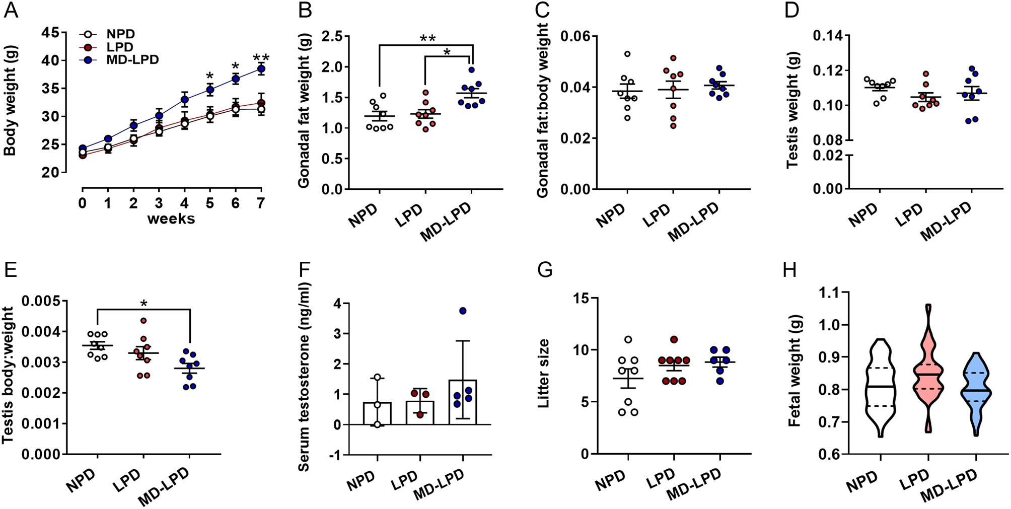 Low protein diet and methyl-donor supplements modify testicular physiology  in mice in: Reproduction Volume 159 Issue 5 (2020)